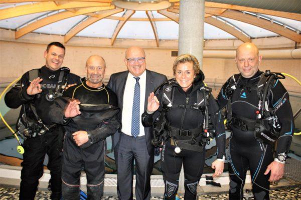 Gella Vandecaveye duiken