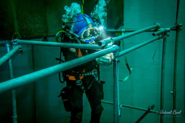 werken onderwater